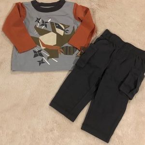 Tea Collection Boy's Tanuki Ninja Outfit 3/6 M NWT